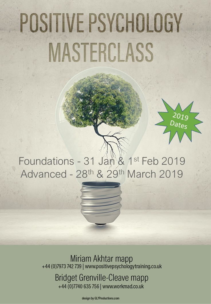 Join Two Of The UKs Leading Positive Psychology Practitioners For A Masterclass